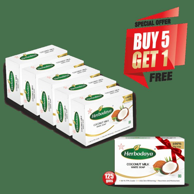 coconut milk soap - 125gm - 5+1 offer post-min