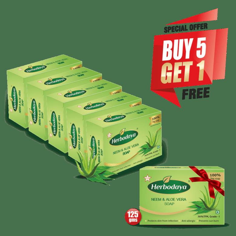 neem soap - 125gm - 5+1 offer post-min