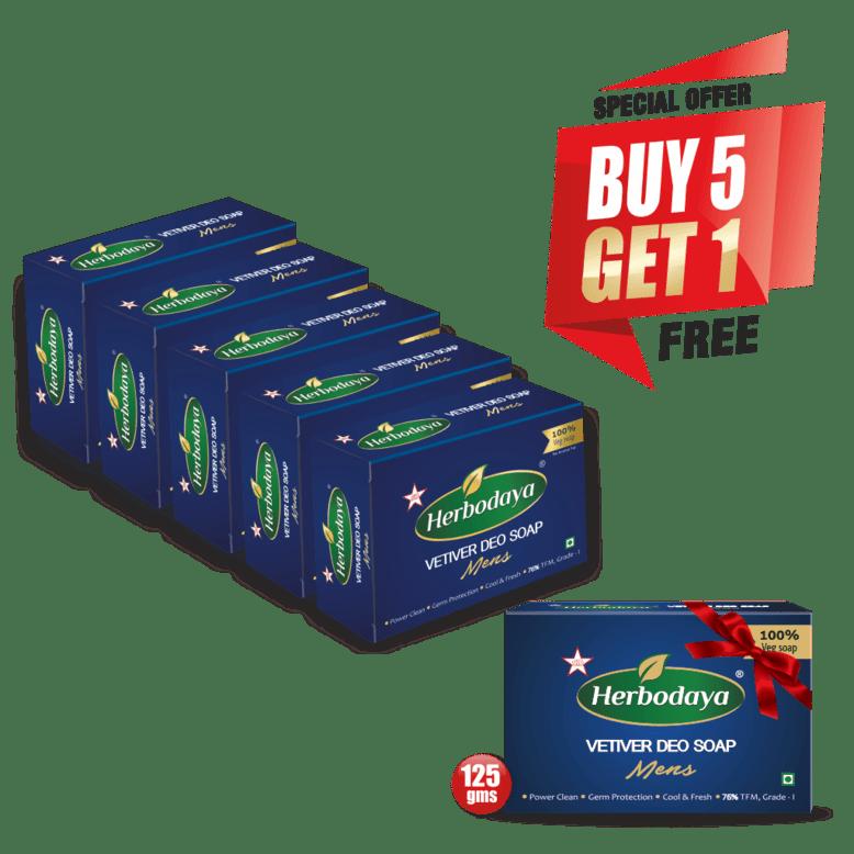 vetiver deo soap - 125gm - 5+1 offer post-min